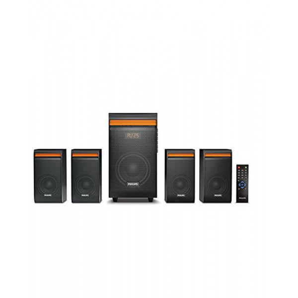 Philips SPA8140B/94 38 W Bluetooth Home Theatre  (Black, 4.1 Channel)