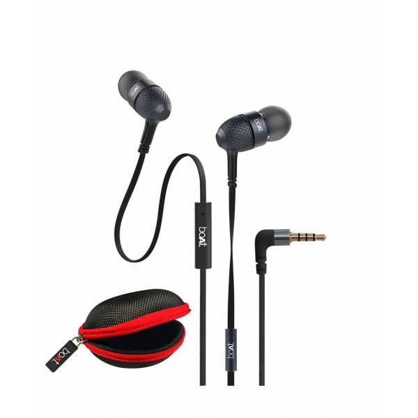 boAt BassHeads 228 Extraa Bass with Pouch in Ear W...