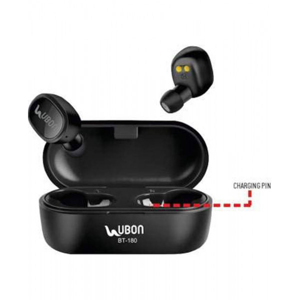 Ubon BT-180 Bluetooth Headset with Mic (Black, In ...